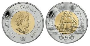 Монета 2 доллара Война 1812 года