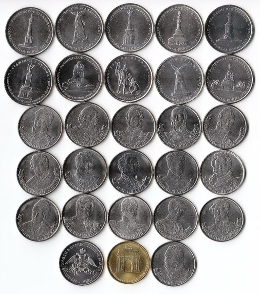 Юбилейные монеты 2012 года