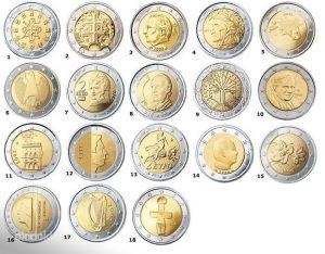 Памятные €2 монеты